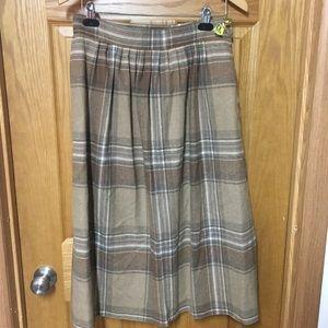 Pendleton wool vintage midi skirt